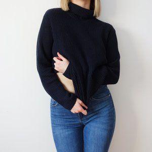 Marine Turtleneck Sweater